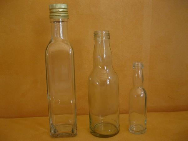 Glasflaschen mit Schraubverschluss, ausverkauft