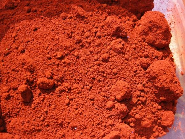Mineralfarbe, ziegelrot (10 g)