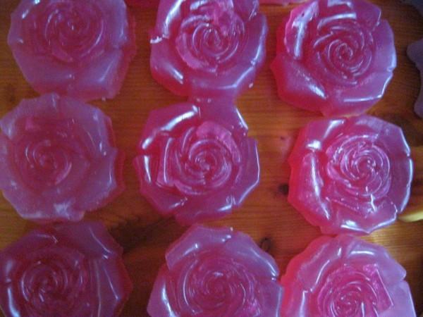 Blumenseifen, Rose einfärbig, ca 100g